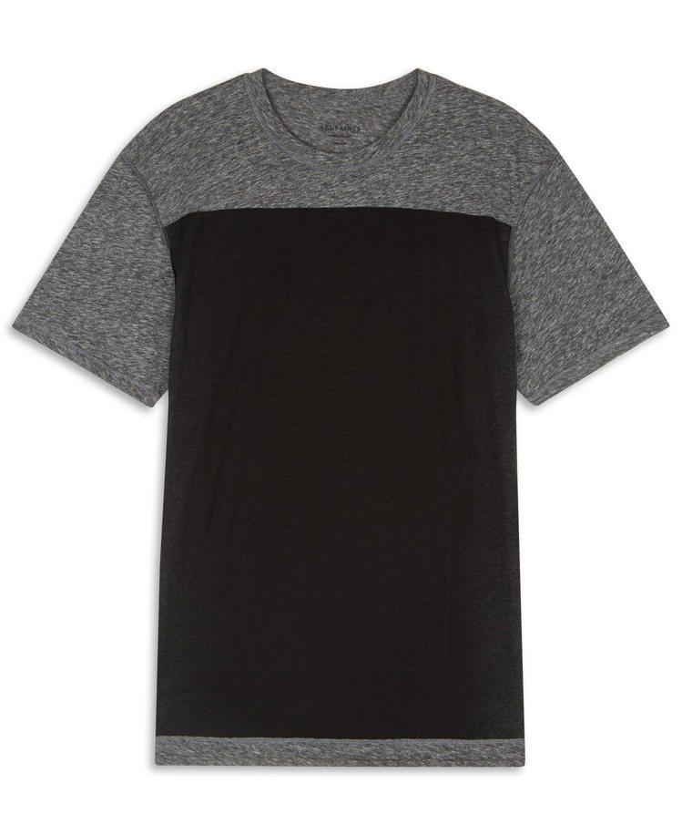 AllSaints Eudon黑色印花T恤,約2,300元。圖/AllSaint...