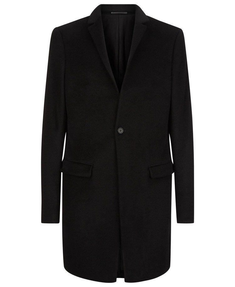 AllSaints Bodell黑色毛料大衣,約18,800元。圖/AllSai...