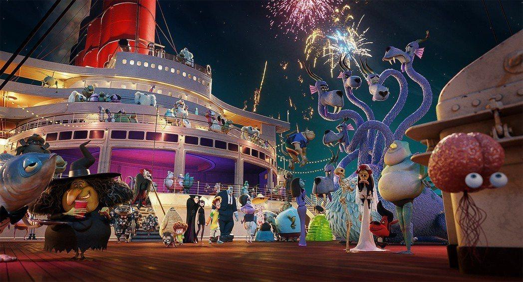 「尖叫旅社3:怪獸假期」為系列注入新意,美國票房風光奪冠。圖/索尼提供