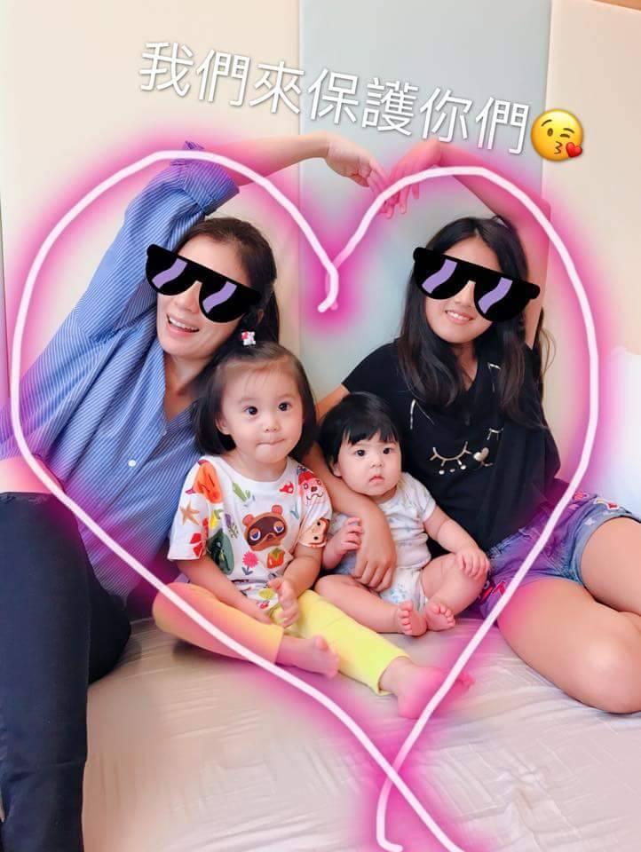 賈靜雯的3個女兒受到網友關注。圖/摘自臉書
