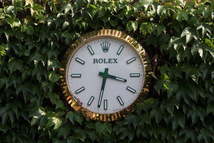 2018年溫布頓錦標賽勞力士時鐘。圖/勞力士提供