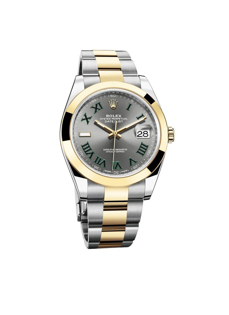 Oyster Perpetual Datejust 41,不鏽鋼與18K黃金錶殼...