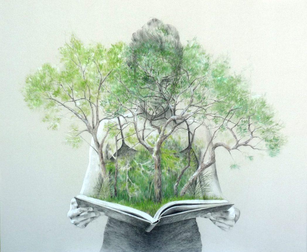 卡塔麗娜是一位熱愛山林與自然的藝術家,運用自然植物汁液、構樹葉及泥土等素材,作為...