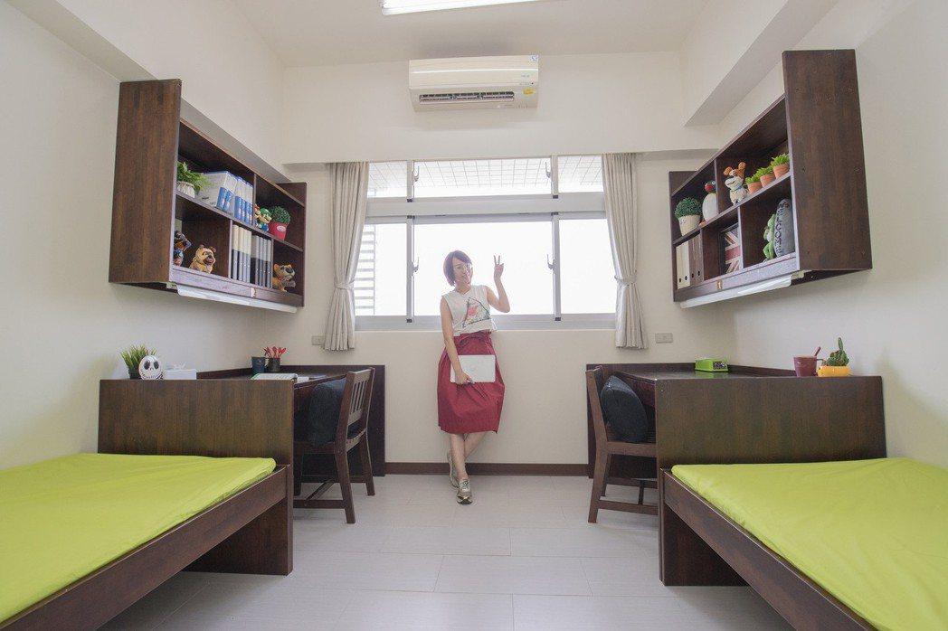 寬敞舒適的住宿空間讓學生不再為住宿問題所煩惱。 嘉藥/提供