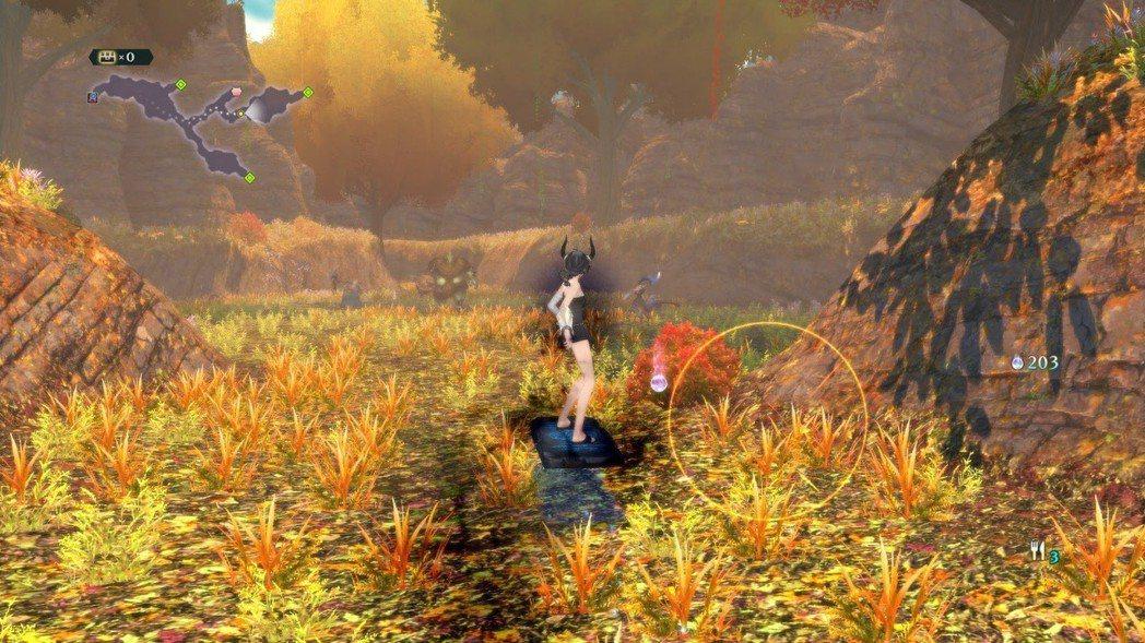 遊戲中期會獲得滑板,探索迷宮才變得方便些,終於不用龜速移動了!