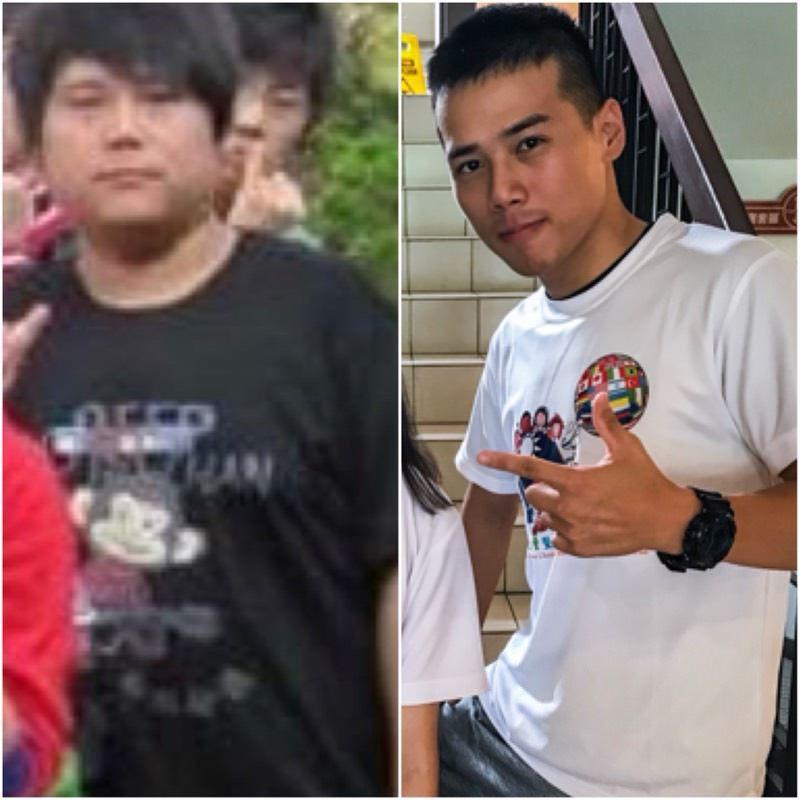 男網友媽媽向他說每減1公斤就給200元,最後他成功瘦了30公斤,「五官整個蹦出來...