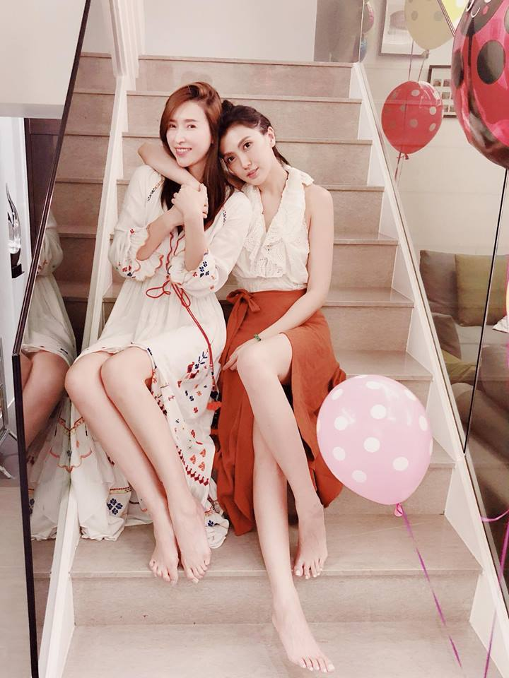 Doris和錢帥君(左)是好友 圖/摘自臉書