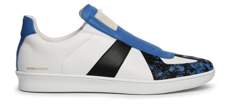 Royal Elastics Smooth GT系列白黑藍潑墨鞋,約4,770元...