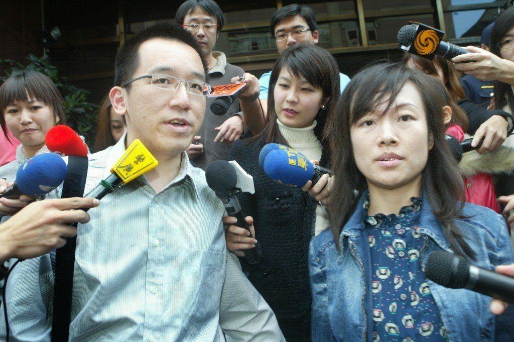 2010年2月,台北地院審理扁家洗錢及二次金改案,陳致中、黃睿靚夫婦出庭應訊。 ...