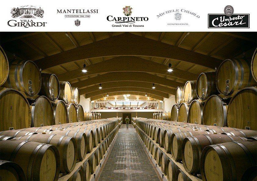 亨信特於為期3天的台北葡萄酒展中,展出義大利5酒莊全系列葡萄美酒。 亨信公司/提...