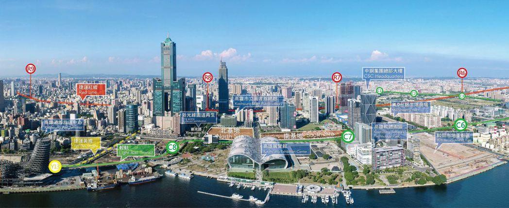 亞洲新灣區是高雄市政府力推的重大建設。 圖/都發局提供