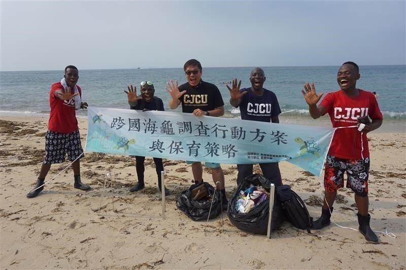 長榮大學跨國海龜調查行動方案與保育策略。 長榮大學/提供