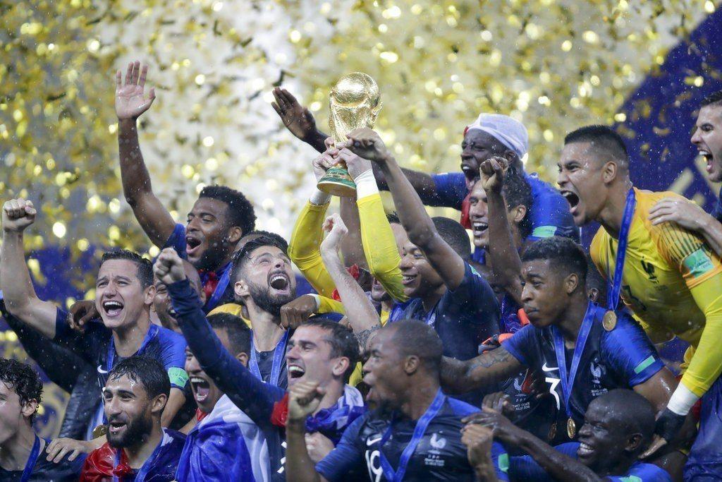 法國隊贏得世界盃冠軍。 美聯社