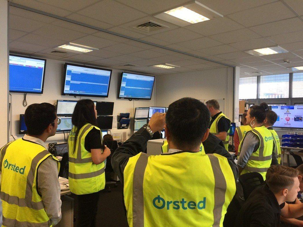 大葉大學工學院團隊參觀英國風場監控中心 大葉大學/提供。