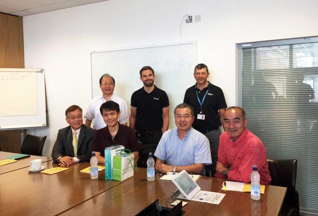 大葉大學工學院團隊與英國風場工程師交流 大葉大學/提供。