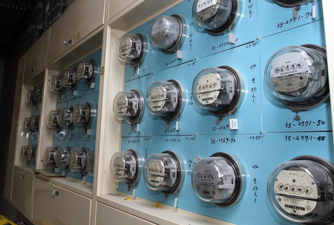 住戶電錶示意圖。報系資料照