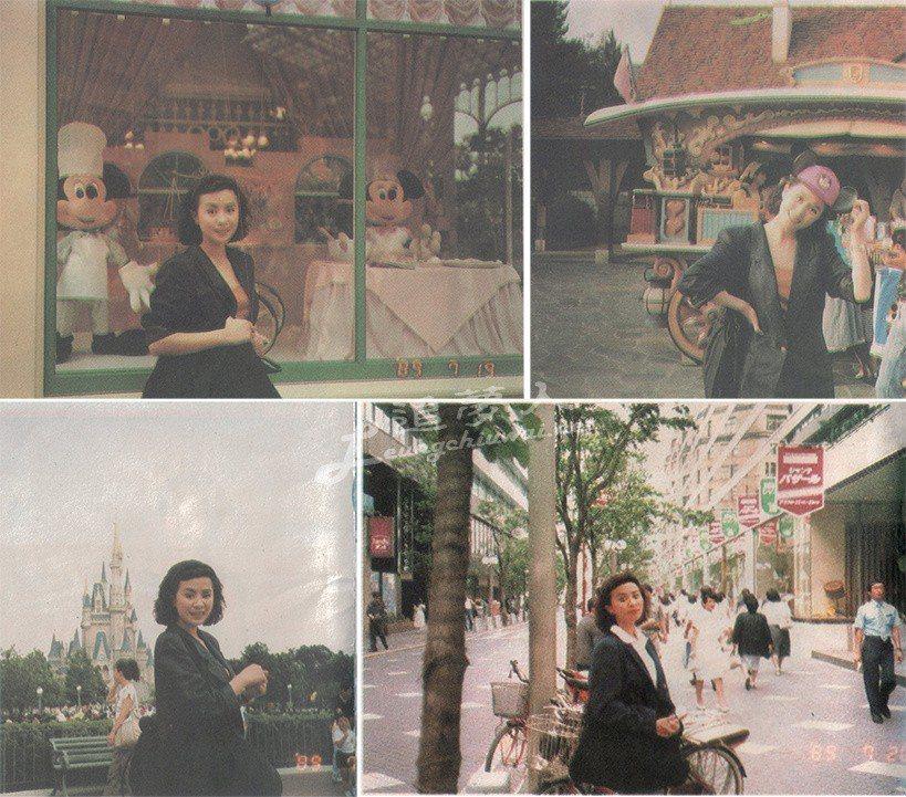 劉嘉玲、梁朝偉迪士尼抱緊緊。圖/擷自微博。