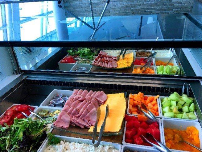 瑞士航空貴賓室生鮮食物區 圖文來自於:TripPlus