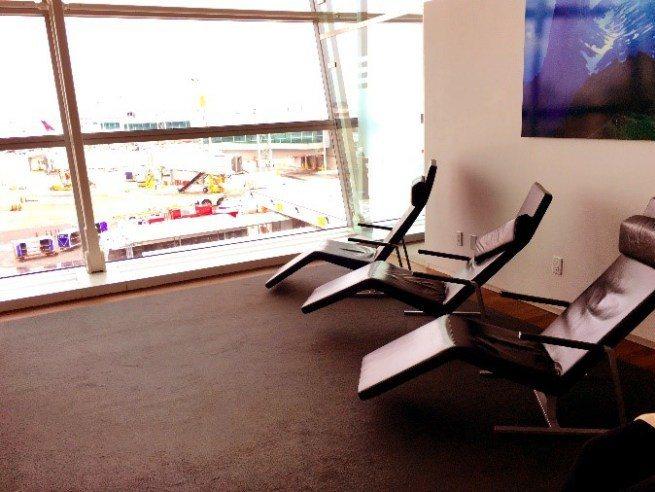 瑞士航空貴賓室的躺椅區 圖文來自於:TripPlus