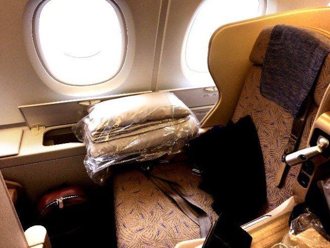 我的預選座位8K一覽(A380上層) 圖文來自於:TripPlus