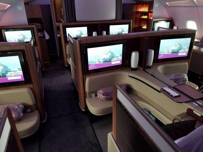卡達航空頭等艙(只在Airbus A380機型上才有) 圖文來自於:TripPl...