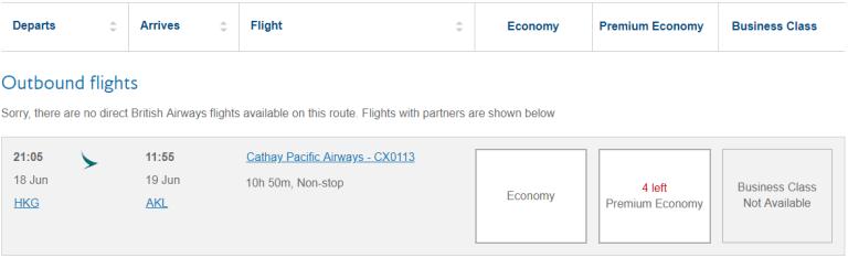 使用英國航空網頁,查詢國泰航空的哩程機位,確認有機位後,就可以打電話給美國航空的...