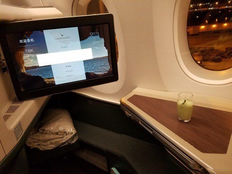 國泰航空A350機型商務艙 圖文來自於:TripPlus