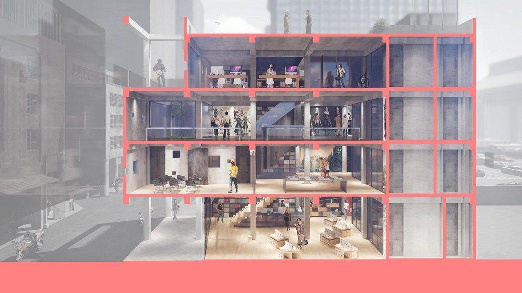 「埕」共有4層樓,擁有多功能空間。圖/ UPGA 瓦建設計提供。