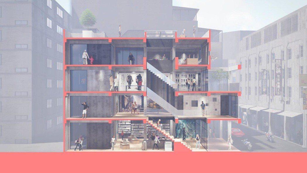 串聯上下動線的樓梯,增加人與人之間的互動。圖/ UPGA 瓦建設計提供。