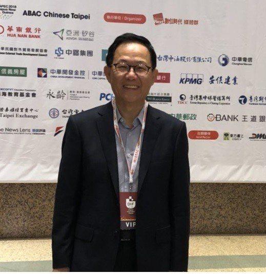 國民黨台北市長參選人丁守中上午參加數位經濟創新論壇。記者楊正海/攝影