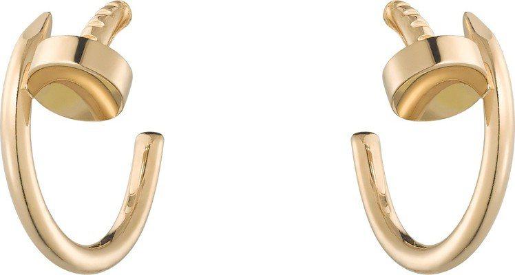 卡地亞JUSTE UN CLOU黃K金耳環,80,500元。圖/卡地亞提供