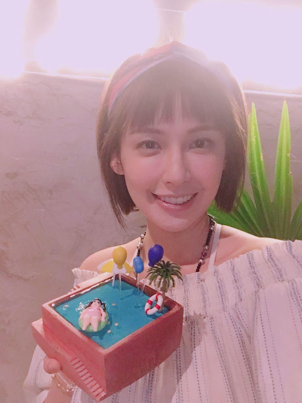 袁艾菲度過驚喜滿滿的生日。圖/艾迪昇提供