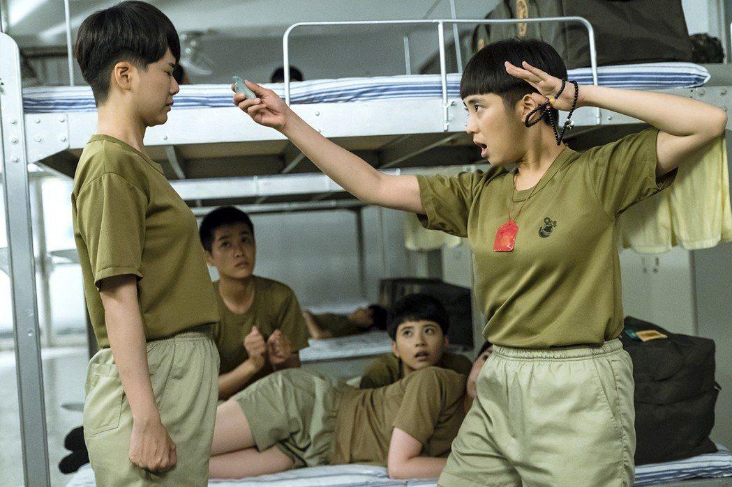 梁舒涵(右)飾演「葉素娥」逗趣可愛,受到網友喜愛。圖/TVBS提供