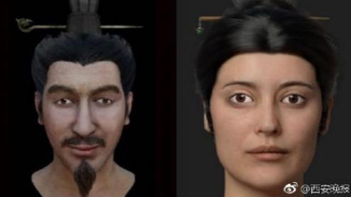 考古學家復原秦始皇嬪妃和皇子的長相,可能有中亞或歐洲血統。 圖/摘自西安晚報
