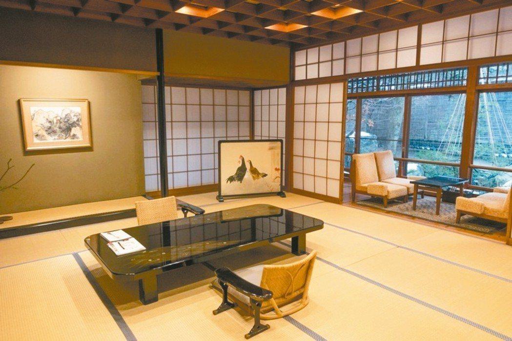 西村屋的特別室觀月房內格局和庭園景致最為優美大器。 圖/梁旅珠