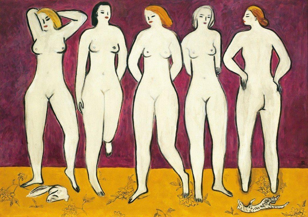 2011年於香港羅芙奧常玉的大幅作品《五裸女》以逾1.28億港幣成交,創下當時常...