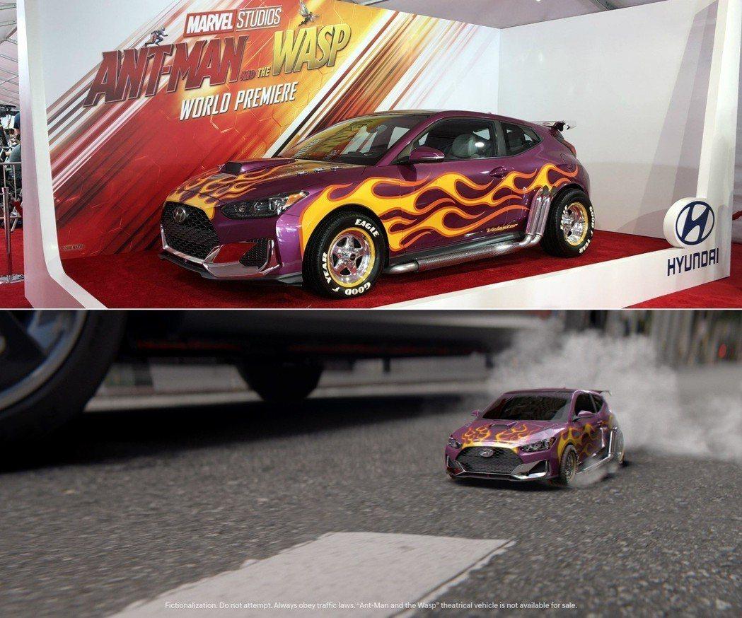 Hyundai Velsoter Turbo出現在最新Marvel電影《蟻人與黃蜂女》。 摘自Hyundai