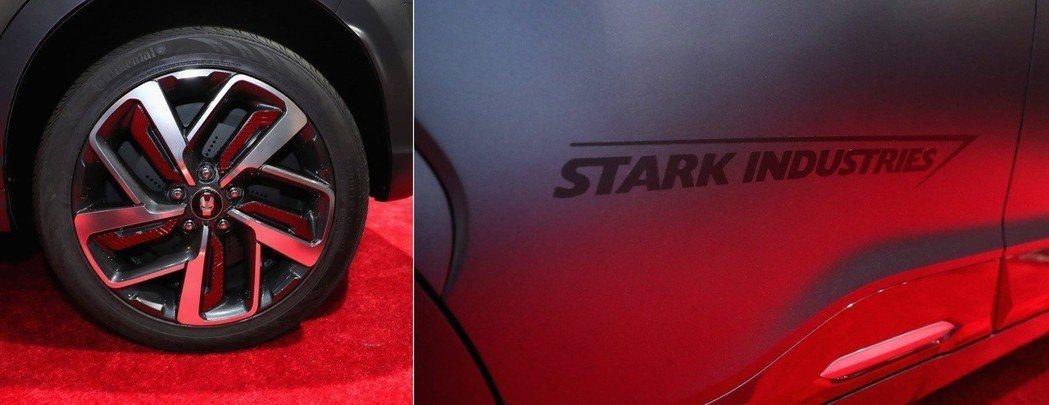 鋼鐵人鋁圈與史塔克工業標示。 摘自Hyundai
