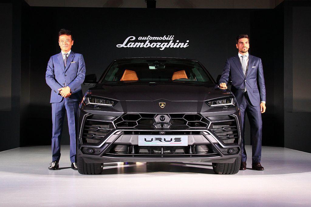Lamborghini Urus以999.89萬元台幣起的售價在台正式發表,同時台灣發表時間與交車速度,都是全球最快的市場之一。 記者張振群/攝影