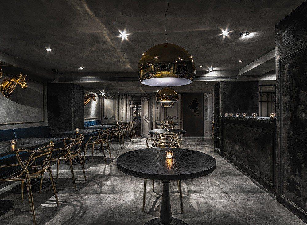 雲邑設計李中霖總監設計的法式餐廳。圖/雲邑設計提供。
