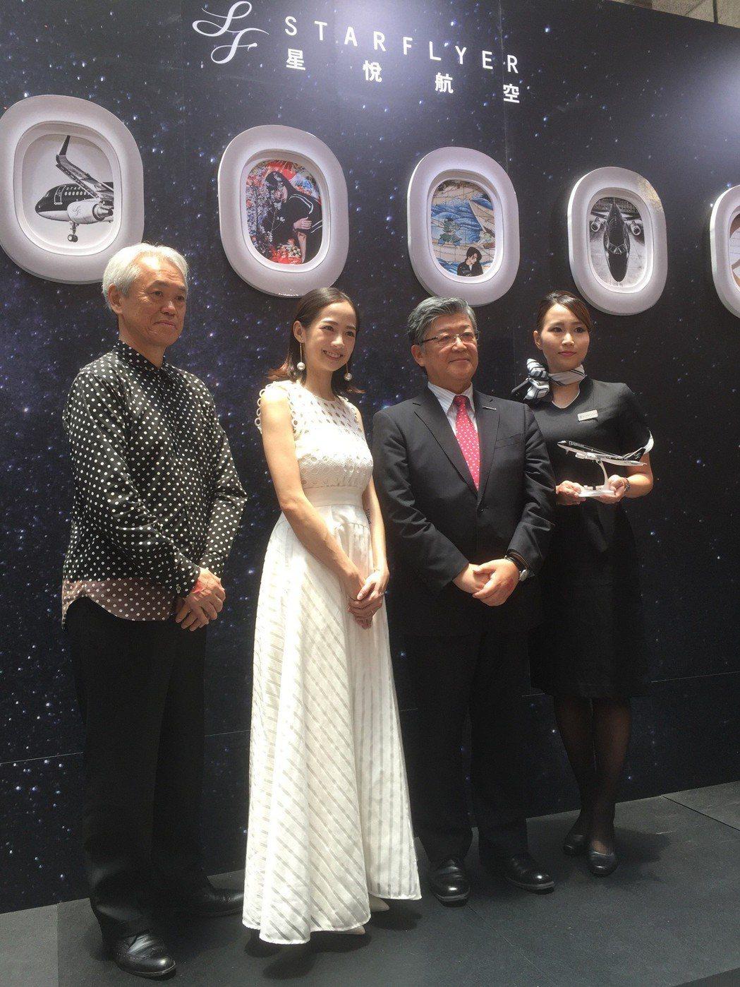 簡嫚書出席星悅航空在台北旅展的活動。記者蘇詠智/攝影