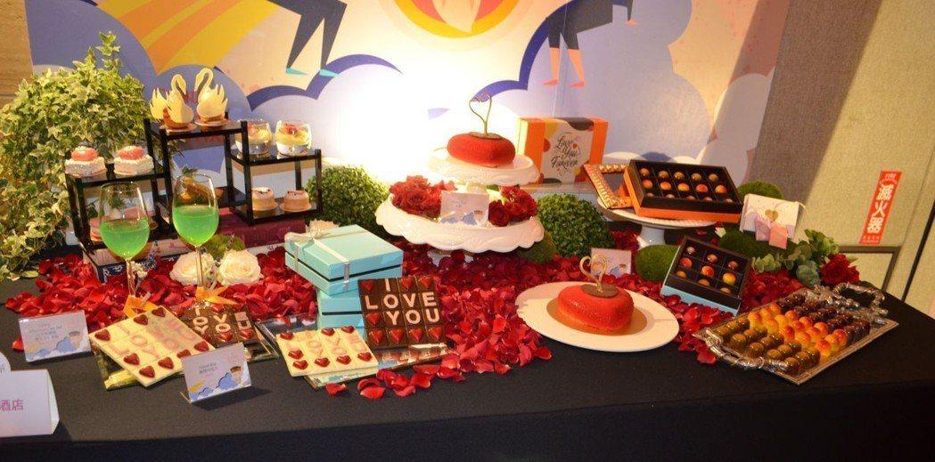 晶英酒店推出的七夕甜點與下午茶。  陳慧明 攝影