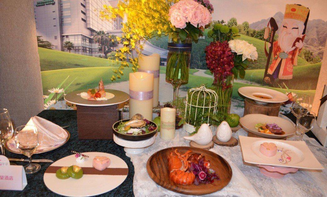 台糖長榮酒店推出的七夕甜點與美食。  陳慧明 攝影