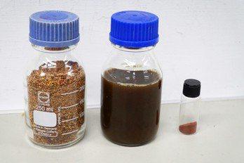 大葉大學食科系教授宋祖瑩研究團隊要開發紅藜殼當美妝原料 大葉大學/提供。