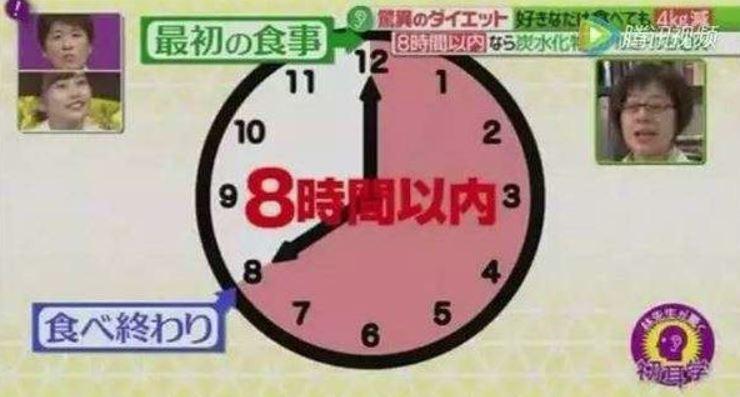 日本綜藝節目實地測試八小時減肥法。