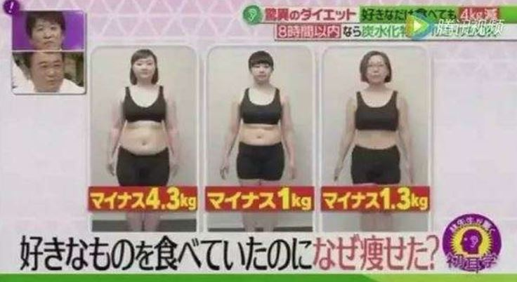 日本綜藝節目實地測試八小時減肥法,最重的女性兩週瘦了4.3公斤,另兩人也瘦了1公...
