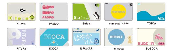 各交通卡標示之路線及商店皆可使用ICOCA卡。 圖/官網