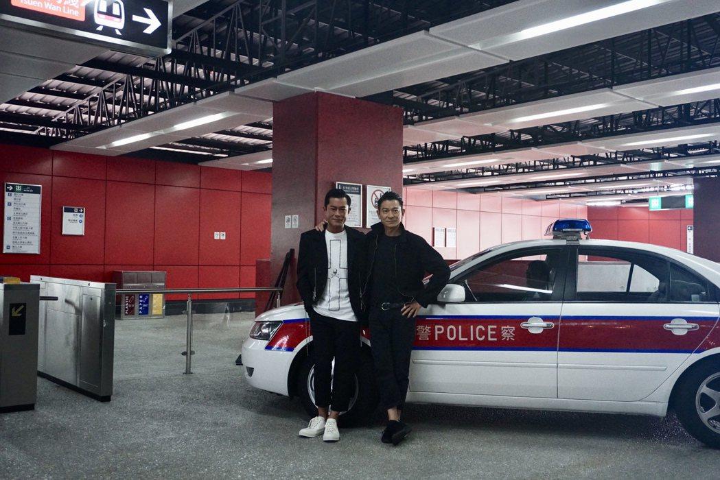 劉德華與古天樂(左)在「掃毒2」中演出反派。圖/華映娛樂提供