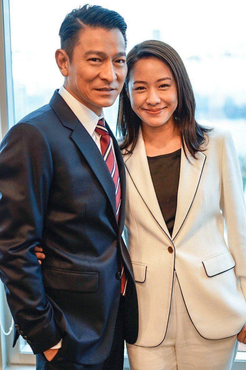 劉德華與林嘉欣合作「掃毒2」。圖/華映娛樂提供