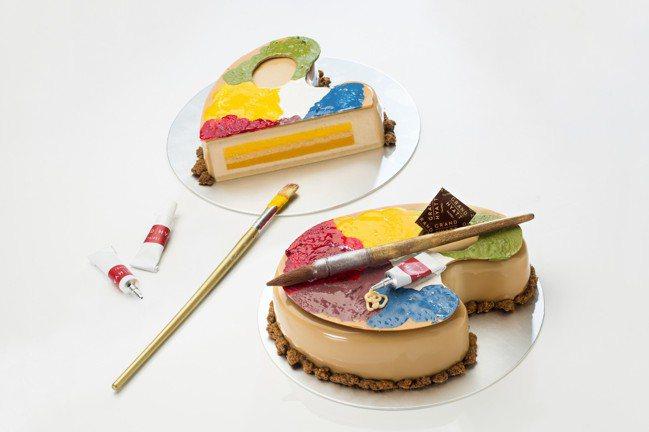 「藝術老爹」父親節蛋糕,每顆5.5吋售價880元。圖/台北君悅酒店提供